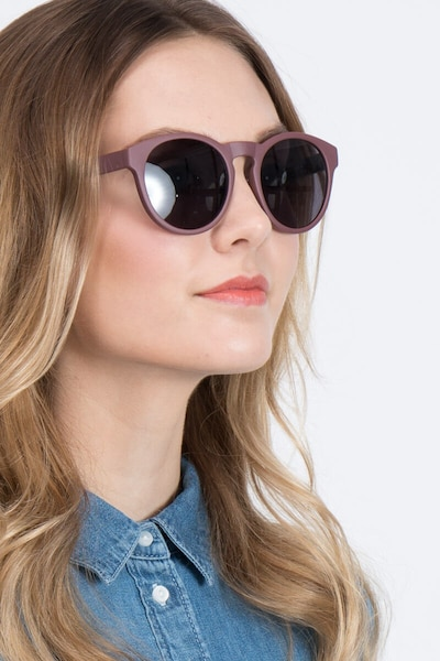 Taylor Marsala Plastic Sunglass Frames for Women from EyeBuyDirect, Front View