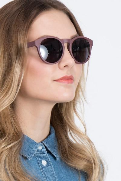 Taylor Marsala Plastique Soleil de Lunettes pour Femmes d'EyeBuyDirect, Vue de Face