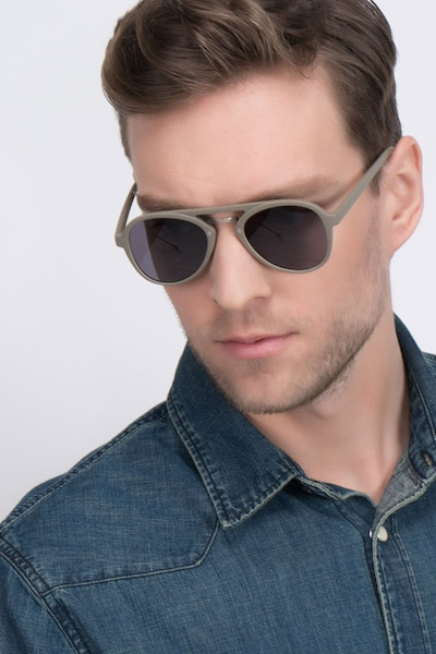 Chips Light Green Plastic Sunglass Frames for Men from EyeBuyDirect, Front View