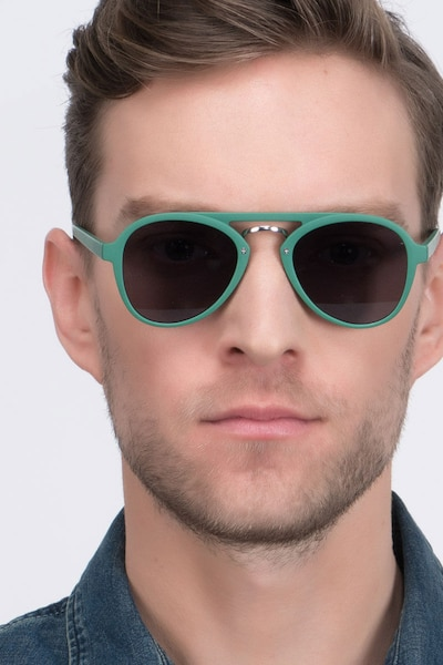 Chips Green Plastic Sunglass Frames for Men from EyeBuyDirect