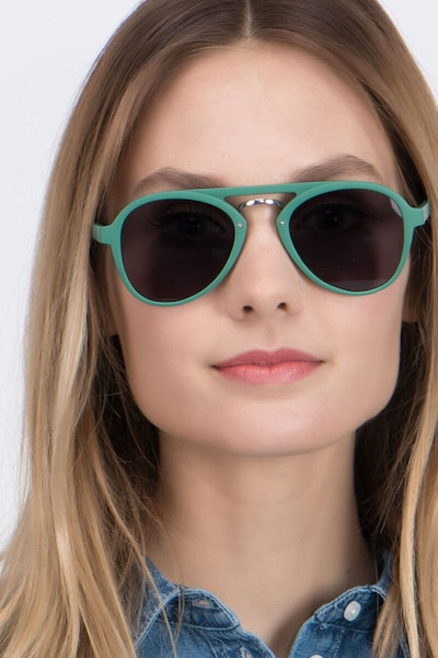Chips Green Plastic Sunglass Frames for Women from EyeBuyDirect