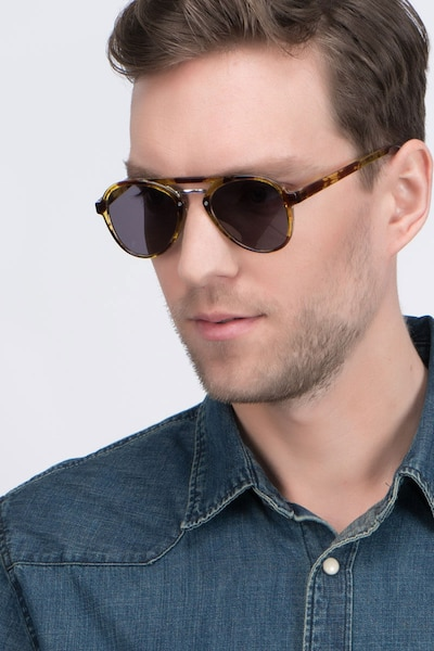Chips Tortoise Plastic Sunglass Frames for Men from EyeBuyDirect, Front View