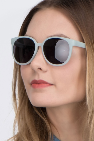 Dundee Light Blue Plastic Sunglass Frames for Women from EyeBuyDirect