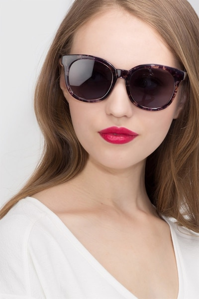 Elena Floral Plastic Sunglass Frames for Women from EyeBuyDirect, Front View