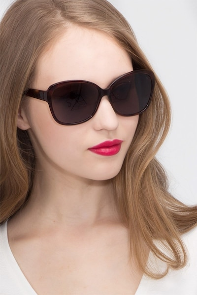 Sevilla  Tortoise  Acetate Sunglass Frames for Women from EyeBuyDirect, Front View