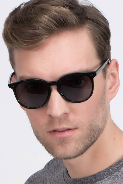 Meraki Black Acetate Sunglass Frames for Men from EyeBuyDirect