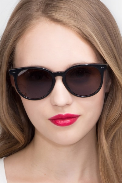 Meraki Black Acetate Sunglass Frames for Women from EyeBuyDirect