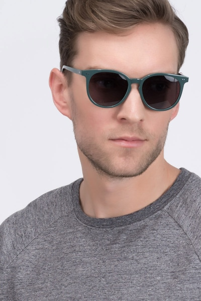 Meraki Gray Acetate Sunglass Frames for Men from EyeBuyDirect, Front View