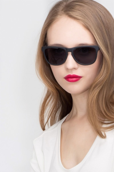 Malibu Matte Black Acetate Sunglass Frames for Women from EyeBuyDirect