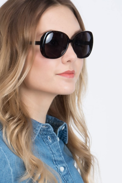 Petra Tortoise Acetate Sunglass Frames for Women from EyeBuyDirect, Front View