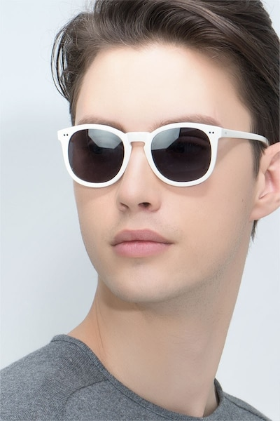 Ethereal Cream Acetate Sunglass Frames for Men from EyeBuyDirect