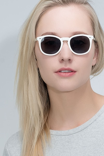 Ethereal Cream Acetate Sunglass Frames for Women from EyeBuyDirect