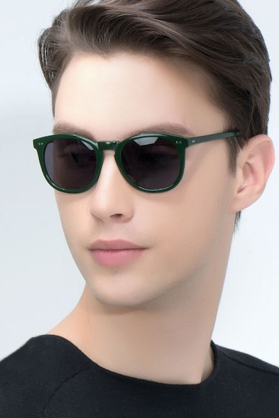 Ethereal Dark Pine Acetate Sunglass Frames for Men from EyeBuyDirect