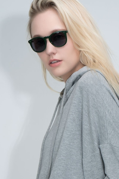 Ethereal Dark Pine Acetate Sunglass Frames for Women from EyeBuyDirect