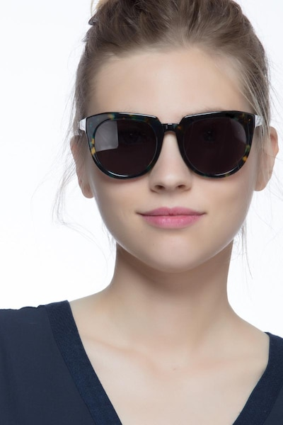 Laohu Nebular Acetate Sunglass Frames for Women from EyeBuyDirect, Front View