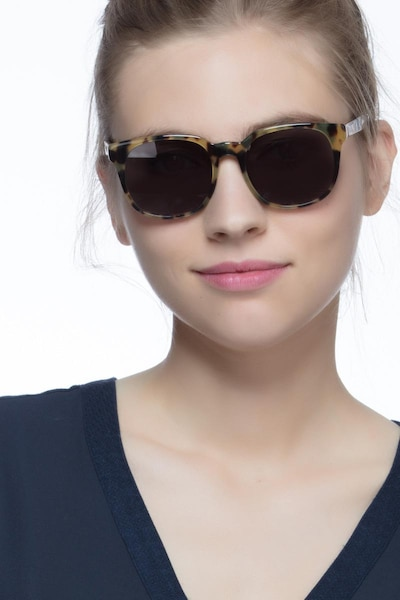 Tempest Tortoise Acetate Sunglass Frames for Women from EyeBuyDirect, Front View