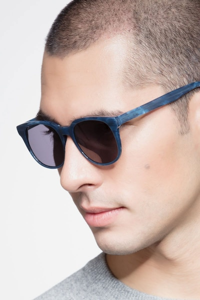 Tempest Blue Acetate Sunglass Frames for Men from EyeBuyDirect