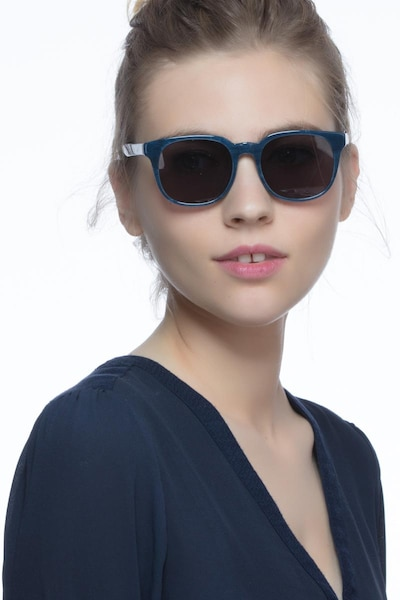 Tempest Blue Acetate Sunglass Frames for Women from EyeBuyDirect, Front View