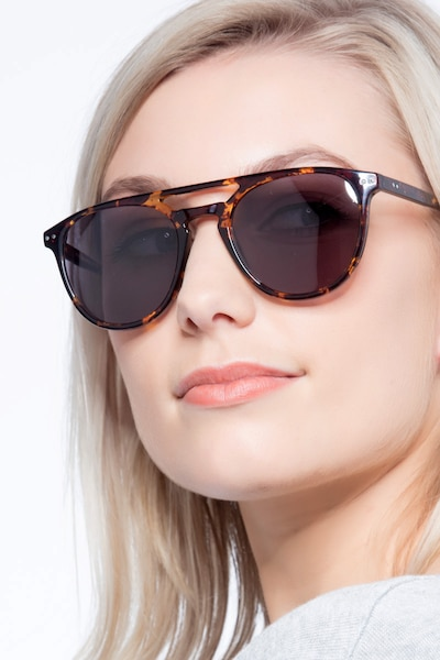 Meadow Tortoise Plastic Sunglass Frames for Women from EyeBuyDirect