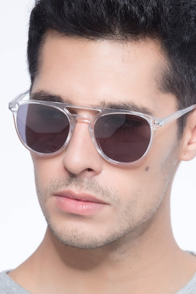 Meadow Clear Plastic Sunglass Frames for Men from EyeBuyDirect