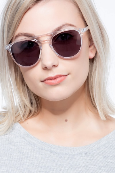 Meadow Clear Plastic Sunglass Frames for Women from EyeBuyDirect, Front View