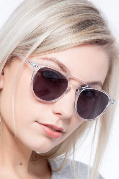 Meadow Clear Plastic Sunglass Frames for Women from EyeBuyDirect