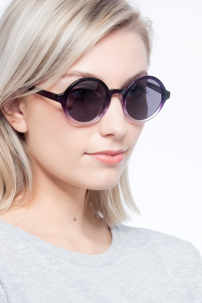 Solstice Purple Clear Plastic Sunglass Frames for Women from EyeBuyDirect, Front View