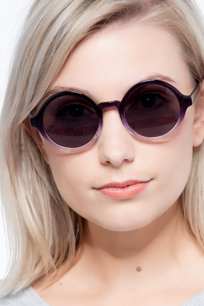 Solstice Purple Clear Plastic Sunglass Frames for Women from EyeBuyDirect