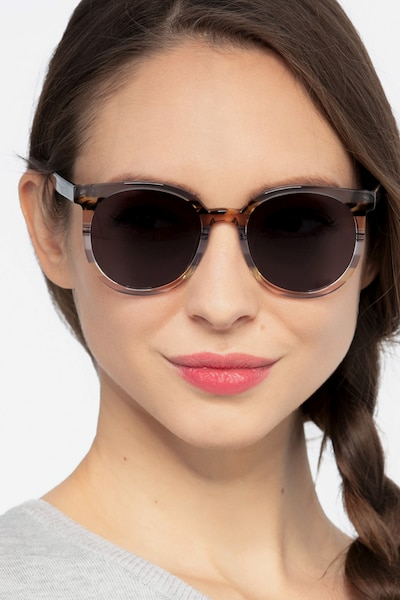 Valence Gray Brown Acetate Sunglass Frames for Women from EyeBuyDirect