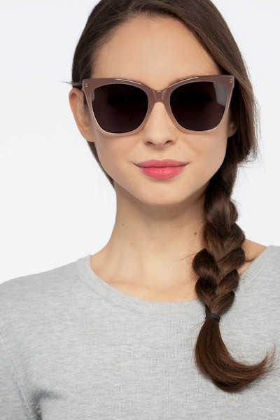 Vamp Brown Acetate Sunglass Frames for Women from EyeBuyDirect, Front View