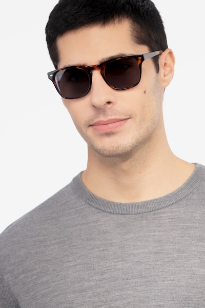 Daikon Tortoise Acetate Sunglass Frames for Men from EyeBuyDirect, Front View