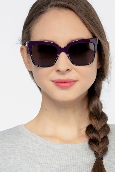 Intrigue Purple Leopard Acetate Sunglass Frames for Women from EyeBuyDirect