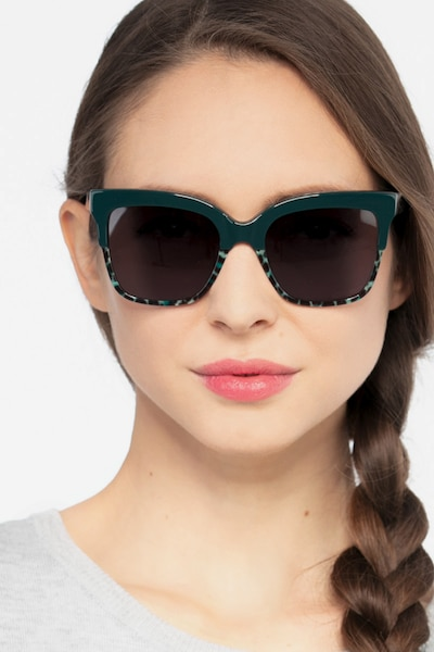 Intrigue Green Leopard Acetate Sunglass Frames for Women from EyeBuyDirect