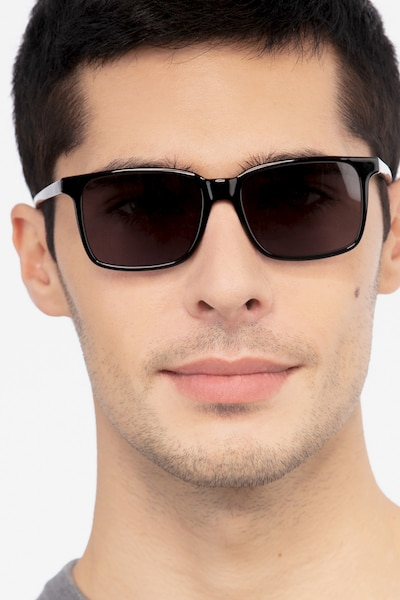 Epoch Black Acetate Sunglass Frames for Men from EyeBuyDirect