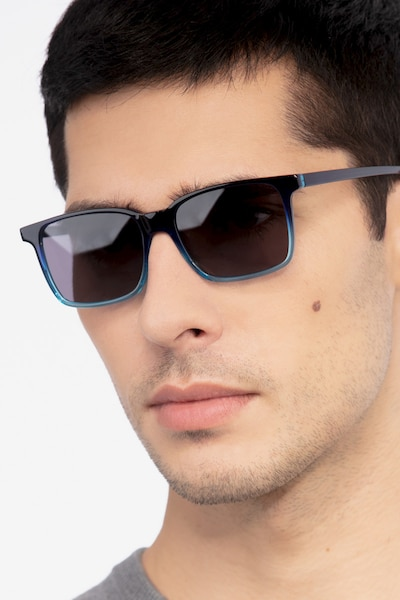 Epoch Blue Acetate Sunglass Frames for Men from EyeBuyDirect