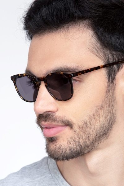 Safari Dark Tortoise Acetate Sunglass Frames for Men from EyeBuyDirect