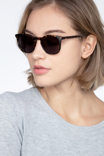 Safari Dark Tortoise Acetate Sunglass Frames for Women from EyeBuyDirect