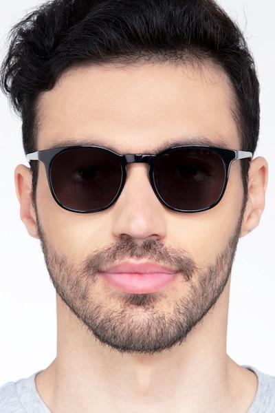 Safari Black Acetate Sunglass Frames for Men from EyeBuyDirect