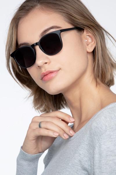 Safari Black Acetate Sunglass Frames for Women from EyeBuyDirect