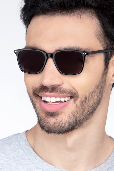 Luck Black Acetate Sunglass Frames for Men from EyeBuyDirect