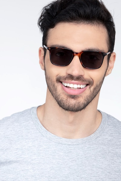 Luck Tortoise Acetate Sunglass Frames for Men from EyeBuyDirect