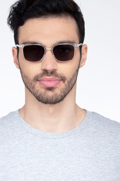 Luck Clear Acetate Sunglass Frames for Men from EyeBuyDirect, Front View