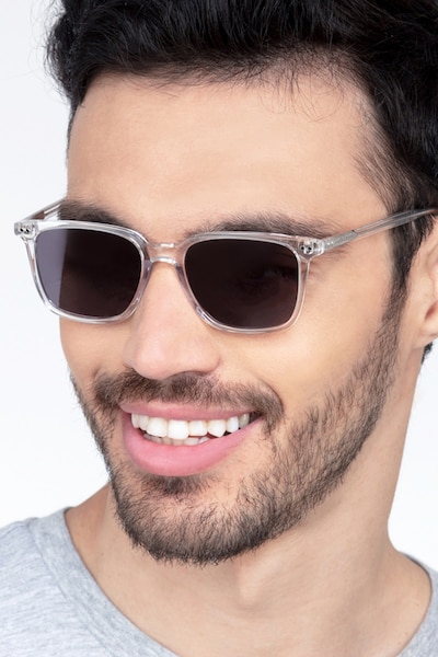Luck Clear Acetate Sunglass Frames for Men from EyeBuyDirect