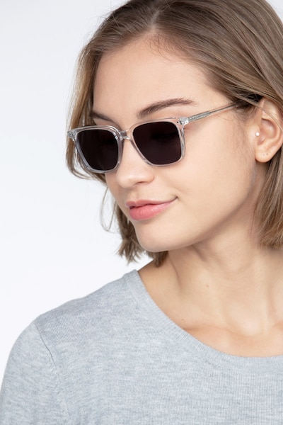 Luck Clear Acetate Sunglass Frames for Women from EyeBuyDirect, Front View
