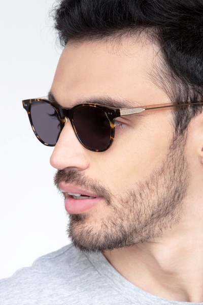 Sol Tortoise Brown Acetate Sunglass Frames for Men from EyeBuyDirect