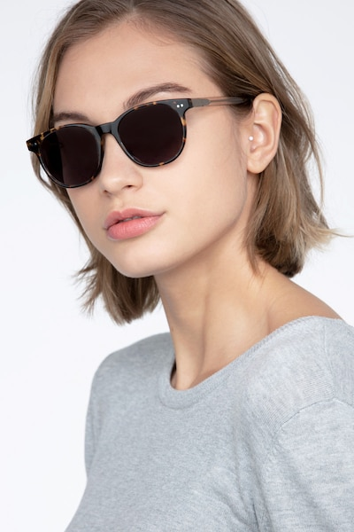 Sol Tortoise Brown Acetate Sunglass Frames for Women from EyeBuyDirect