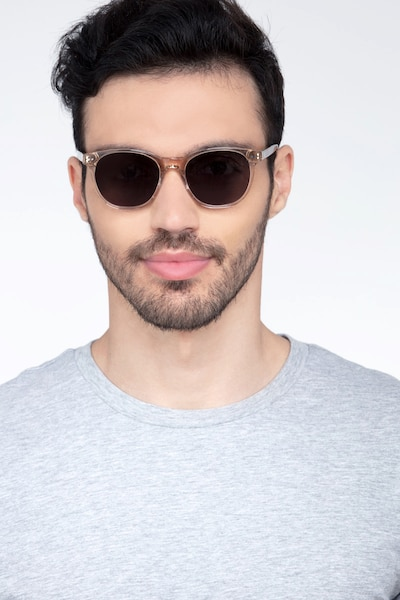 Sol Champagne Acetate Sunglass Frames for Men from EyeBuyDirect, Front View