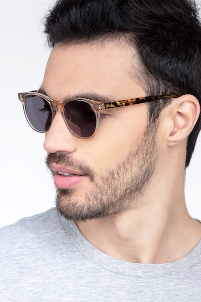 Sol Champagne Acetate Sunglass Frames for Men from EyeBuyDirect