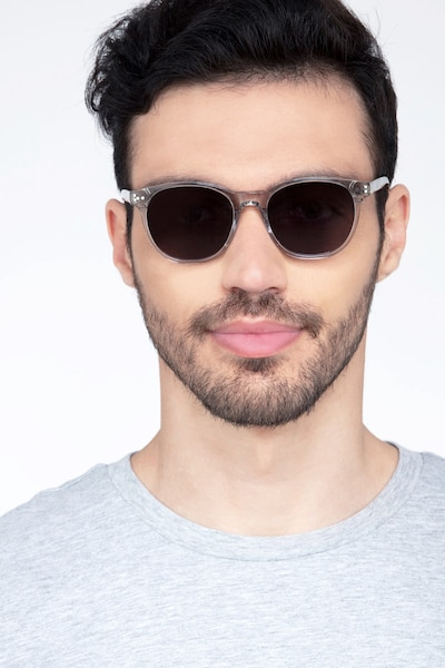 Sol Gray Clear Acetate Sunglass Frames for Men from EyeBuyDirect