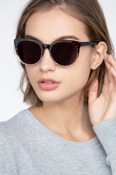 Queen Brown Striped Acetate Sunglass Frames for Women from EyeBuyDirect
